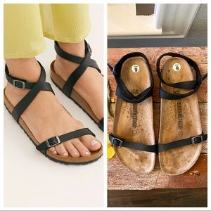 Birkenstock leather ankle strap gladiator sandals